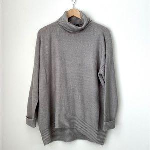 Grace Classy Grey Turtleneck Sweater